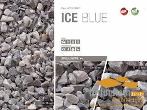 Marmorsplitt Ziersplitt Ice Blue