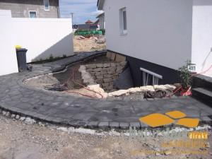 Basalt Polygonalplatten Anden