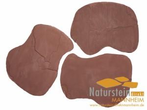 Sandstein Polygonalplatten Burgund