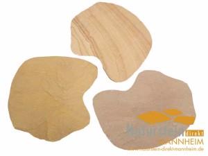 Sandstein Polygonalplatten Mandala