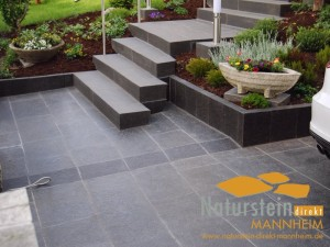 Basalt Terrassenplatten Sandokan