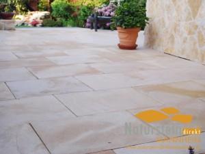 Kalkstein Terrassenplatten Mandarin