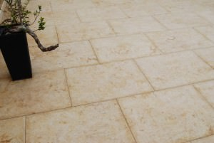 Terrassenplatten Kalkstein Travertin Sindbad Gold Elegance