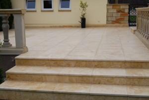 Terrassenplatten Kalkstein Travertin Dindbad Gold Elegance