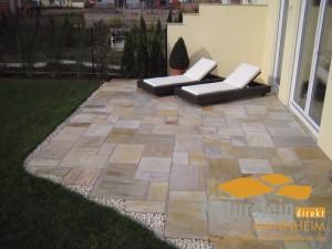 Quarzit Terrassenplatten Giallo