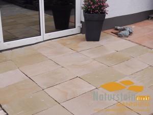 Sandstein Terrassenplatten Golden Sand