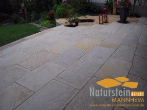 Sandstein Terrassenplatten Lemon Mint