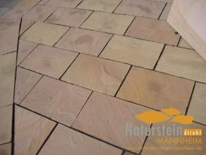 Sandstein Terrassenplatten Mandala