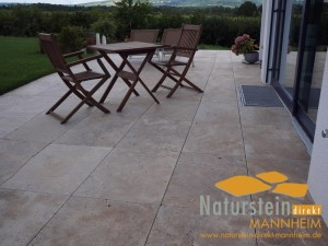 Travertin Terrassenplatten Noce Royal