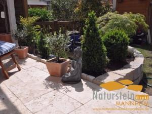 Travertin Terrassenplatten Provence Crema