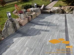 Gneis Terrassenplatten Bianka