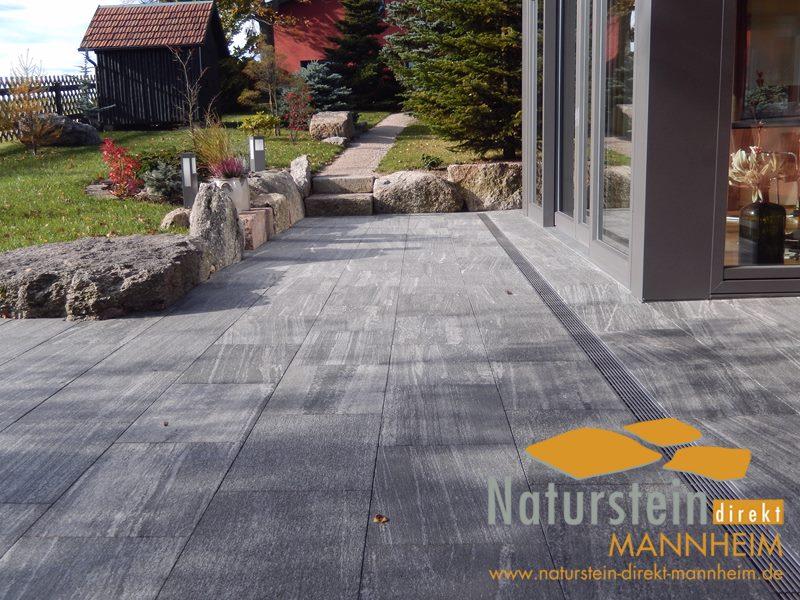 Terrassenplatten Gneis Bianka Naturstein Direkt Mannheim